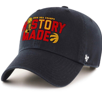 "Toronto Raptors 2019 NBA Champs ""History Made"" 47 Brand Black Adjustable"