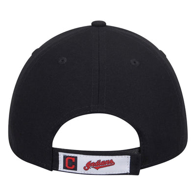 "Cleveland Indians Road Navy ""C"" The League Black 9Forty New Era Adjustable Hat"