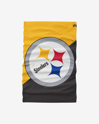 Pittsburgh Steelers Big Logo FOCO NFL Face Mask Gaiter Scarf