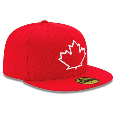 Toronto Blue Jays Official On-Field Alt 2014 Batting Practice Red New Era 59FIFTY Fitted Hat