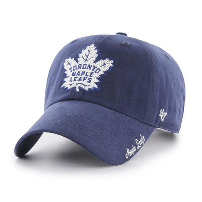 Women's Toronto Maple Leafs 47 Brand Sparkle Clean Up Adjustable Buckle Back Hat