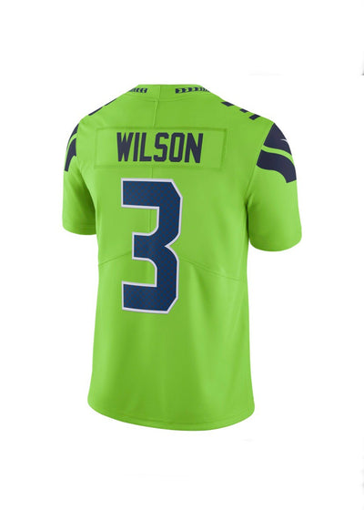 Russell Wilson Seattle Seahawks Nike Untouchable Neon Green Limited Player Jersey