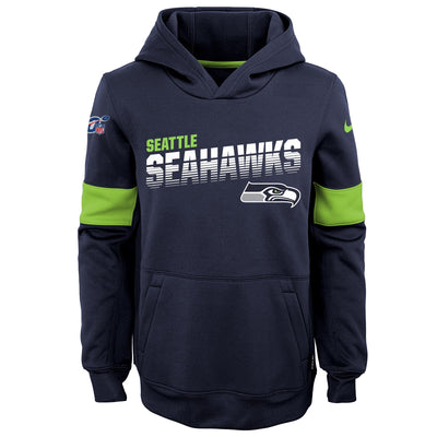Youth Nike Navy Seattle Seahawks On-Field Performance - Pullover Hoodie