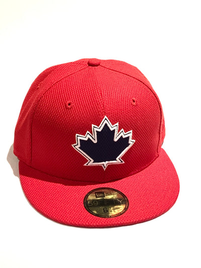 Toronto Blue Jays Red Navy Leaf 59Fifty New Era Fitted Hat
