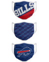 Buffalo Bills Game Time FOCO NFL Face Mask Covers Adult 3 Pack