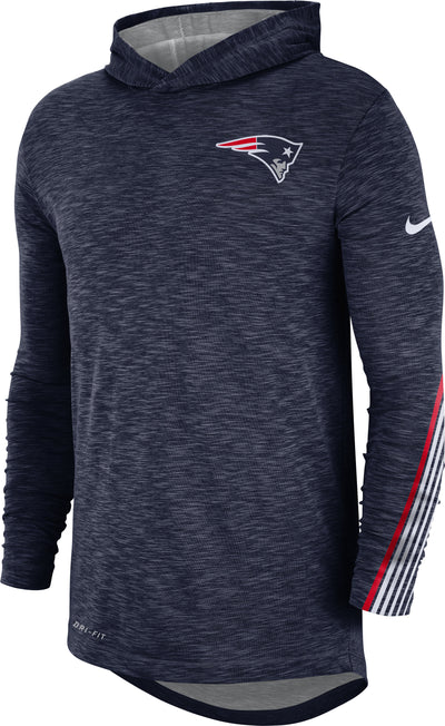 New England Patriots Nike Sideline Line of Scrimmage Performance - Long Sleeve Hoodie T-Shirt