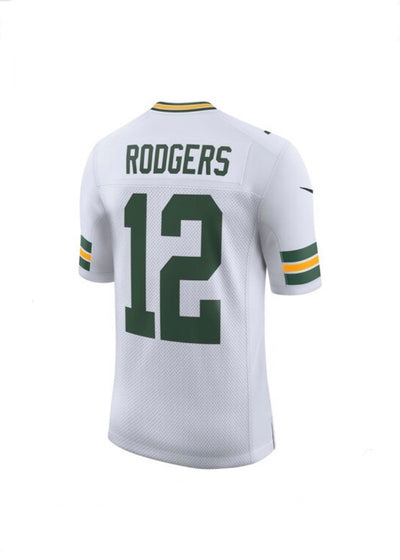 Aaron Rodgers Green Bay Packers White Nike Limited Jersey
