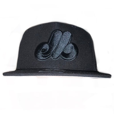 Montreal Expos Sure Shot Captain Black/Black 47 Brand Snapback Hat