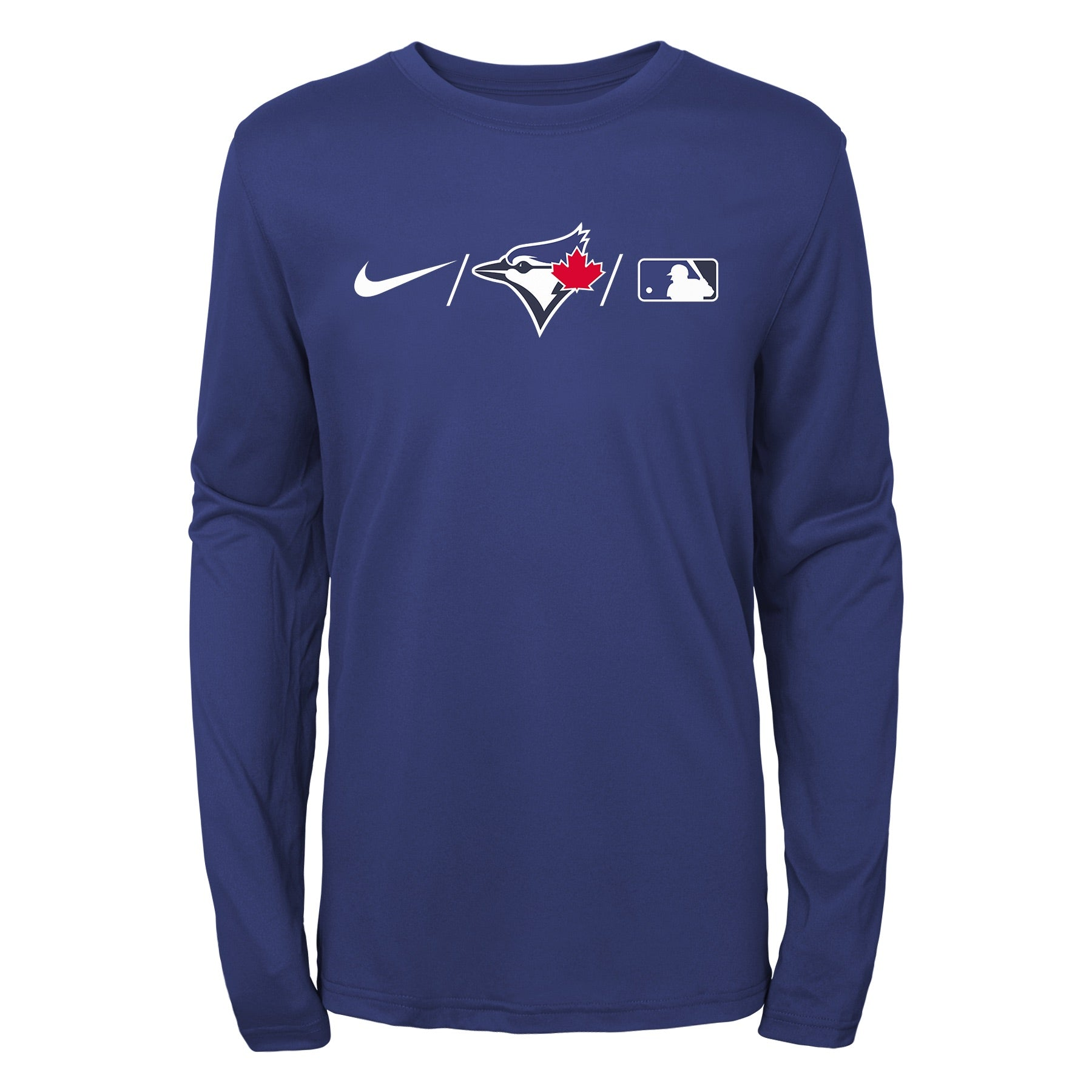 Youth Toronto Blue Jays Nike Royal Authentic Collection Team Legend Performance - Long Sleeve T-Shirt