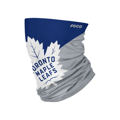 Youth Toronto Maple Leafs Big Logo FOCO NHL Face Mask Gaiter Scarf