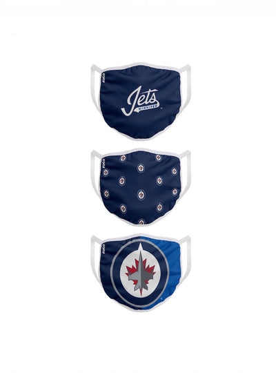 Youth Winnipeg Jets FOCO NHL Face Mask Covers 3 Pack