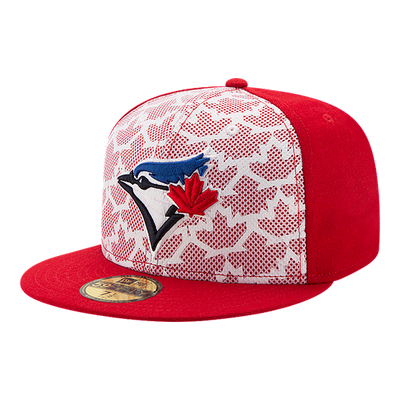 Toronto Blue Jays Red White Stars and Stripes July 4th 2016 New Era 59FIFTY Fitted Hat
