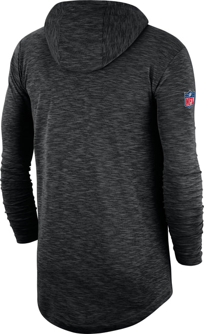 New Orleans Saints Nike Sideline Line of Scrimmage Performance - Long Sleeve Hoodie T-Shirt