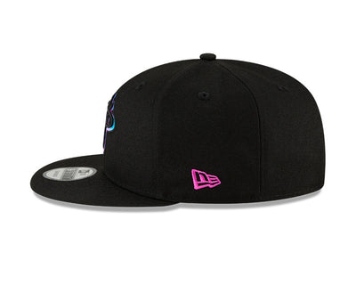 Miami Heat Black Vice Primary Logo New Era City Series 20 Snapback