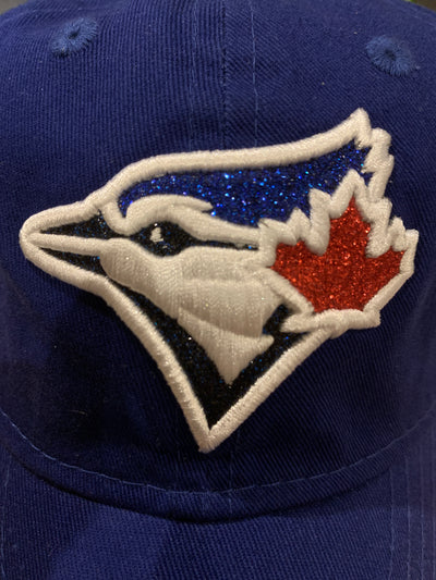 Youth Toronto Blue Jays Royal Team Glisten 9Twenty Adjustable New Era Hat