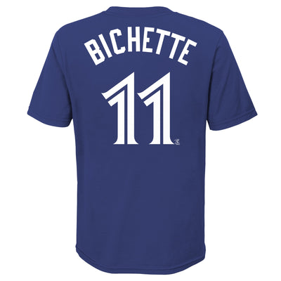 Youth Toronto Blue Jays Bo Bichette #11 Nike Royal Name & Number T-Shirt