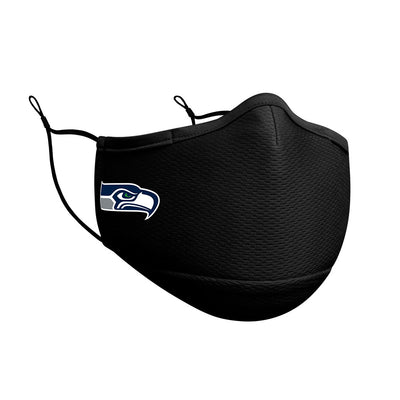 Seattle Seahawks New Era Black On-Field Face Cover Mask
