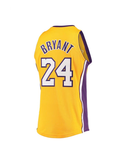 Kobe Bryant Gold Los Angeles Lakers 2008-09 Hardwood Classics Mitchell & Ness- Authentic Jersey