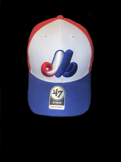 Montreal Expos Royal Red Alt 47 Brand MVP Bullpen Basic Adjustable Hat