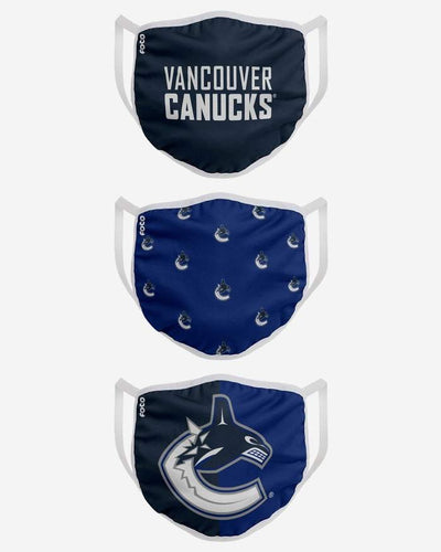 Vancouver Canucks FOCO NHL Face Mask Covers Adult 3 Pack