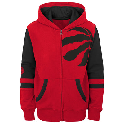 Child Toronto Raptors Full Zip Red Black Fleece Hoodie