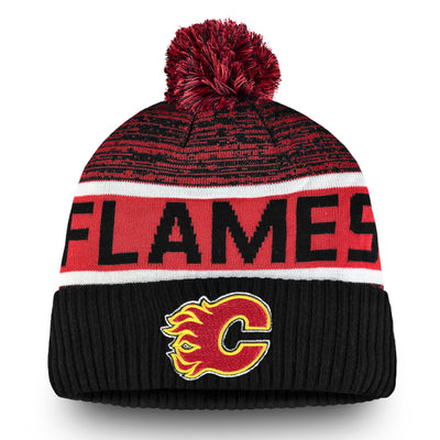 Calgary Flames Authentic Pom Toque