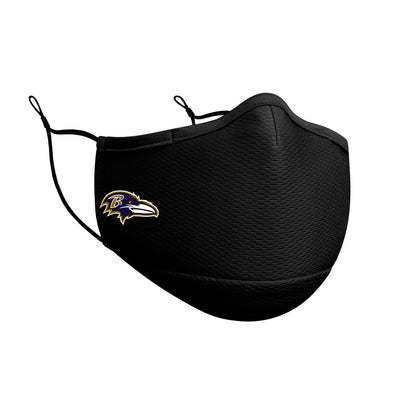 Baltimore Ravens New Era Black On-Field Face Cover Mask