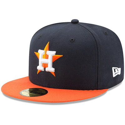 Houston Astros New Era Navy/Orange Authentic Collection On-Field 59FIFTY Road Fitted Hat
