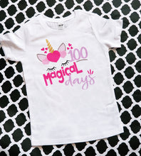 Load image into Gallery viewer, Girls 100th Day of School Shirt, 100 Magical Days, 100th Day Unicorn Shirt - The Hot Polka Dot