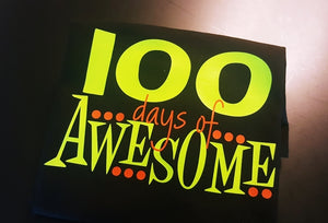 Boys 100th Day of School Shirt, 100 Days of AWESOME - The Hot Polka Dot