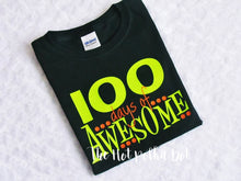 Load image into Gallery viewer, Boys 100th Day of School Shirt, 100 Days of AWESOME - The Hot Polka Dot