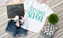 Load image into Gallery viewer, Girls 100th Day of School Shirt **GLITTER** - The Hot Polka Dot