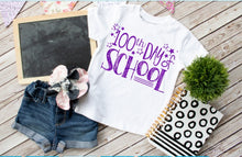 Load image into Gallery viewer, Teachers 100th Day of School Shirt **GLITTER** - The Hot Polka Dot