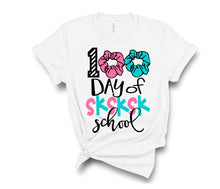 Load image into Gallery viewer, Adults & Girls 100th Day of School Shirt, 100 Days of Scrunchies SKSK School - The Hot Polka Dot