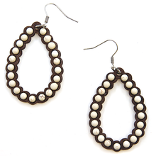 Load image into Gallery viewer, Wood Teardrop Earrings
