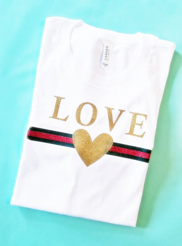 Girls Gucci Inspired LOVE Shirt - The Hot Polka Dot