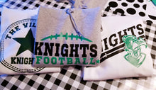 Load image into Gallery viewer, Boys KNIGHTS Shirt Designs, School Mascot Shirts, Sweatshirt, Raglan or Hoodie, YOU CHOOSE - The Hot Polka Dot
