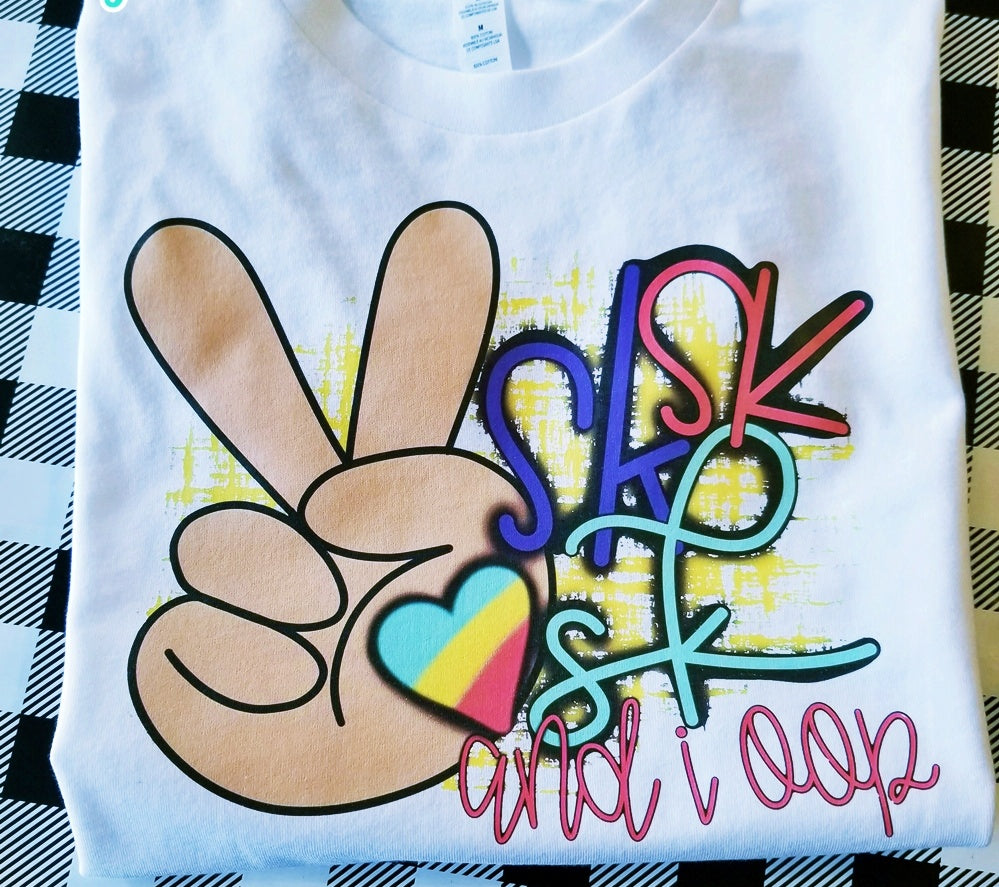 VSCO Girl Shirt, Peace Sign SKSKSK and I Oop Shirt - The Hot Polka Dot