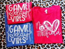 Load image into Gallery viewer, Game Day Vibes, Game Day Graphic Tee, Choose Shirt Color - The Hot Polka Dot