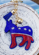 Load image into Gallery viewer, DONKEY Democrat Blingy Keychain
