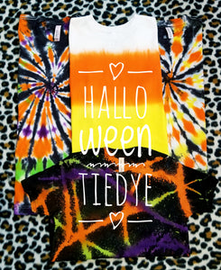 Halloween Reverse Tiedye Tshirt, No Design, Youth & Adults