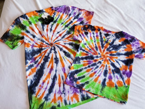 Twisted Halloween Tiedye Tshirt, No Design, Kids & Adults