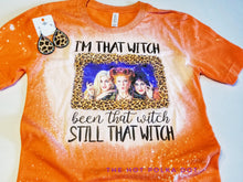 Load image into Gallery viewer, Hocus Pocus I am that Witch *BLEACHED*  Halloween Tshirt
