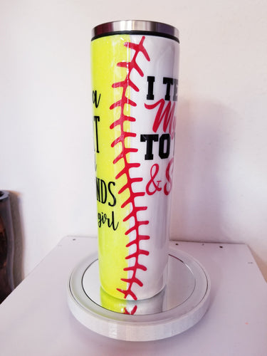 Baseball & Softball Mom Split Design Tumbler