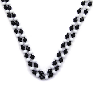Black & White Beaded Necklace
