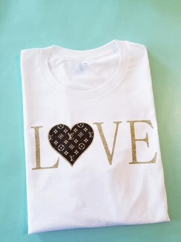 LV Inspired LOVE Shirt - The Hot Polka Dot