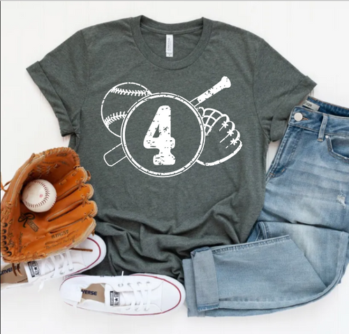 Baseball Mom Shirt with Custom Player Number or Name Graphic Tee, Choose Shirt Color - The Hot Polka Dot