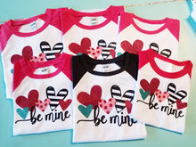 Load image into Gallery viewer, Girls BE MINE Valentine's Day Shirt, - The Hot Polka Dot