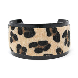 Leopard Print Cuff Bracelet - The Hot Polka Dot