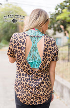 Load image into Gallery viewer, BACK OFF TOP ** LEOPARD Open Back Top ~ Crazy Train - The Hot Polka Dot